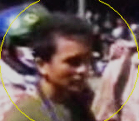 zoom-in of attacker's face