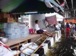 drinking water stacks at police camp